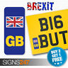 GB NUMBER PLATE STICKER FOR MOTORBIKES UNION JACK NO EU FLAG BREXIT