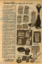 1960 ADVERT Zippo Cigarette Lighter Slim Engraved Initial Ronson Table Watch