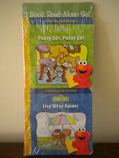 2 Read Along with Elmo Mini Board Books Nursery Rhymes Sesame Street NEW