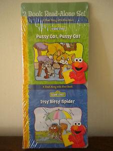 2 Read Along with Elmo Mini Board Books Nursery Rhymes Sesame Street NEW