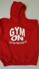 GYMON (Get Your Motivation On) Red Hooded Sweatshirt