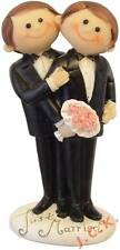 Cutie gay males same sex couple civil ceremony wedding cake topper decoration