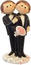 CUTIE GAY MALES SAME SEX COUPLE CIVIL CEREMONY WEDDING CAKE TOPPER DECORATION