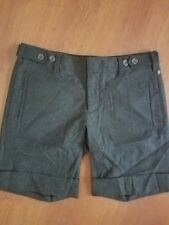 VINCE Gray Wool Blend Cuffed Dress Shorts size 2 Stretch Front Back Pockets
