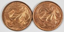 Australia 1966 'C' & 1966 'P' Two Cents (2 coins), both Choice Uncirculated
