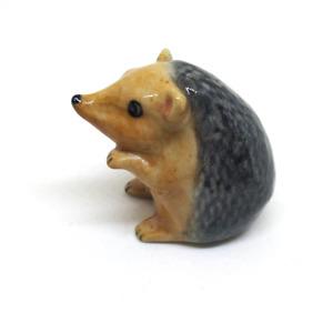 Size L ceramic hedgehog dollhouse figurines porcelain animal vintage miniature