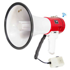 New pyle PMP52BT Bluetooth 50 Watt Megaphone Speaker w/Siren AUX USB & SD Input