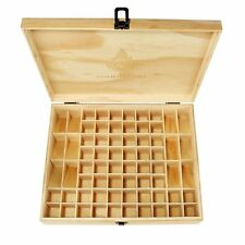 68 Bottles Essential Oil Wooden Box Organizer Large Wood Storage Case Protector