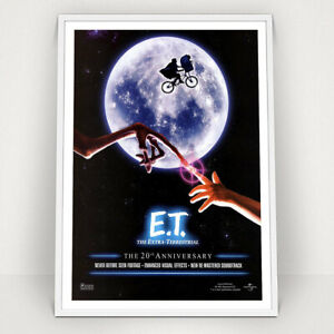 ET - The Extra Terrestrial - 1982 - Classic Vintage Movie Poster Print