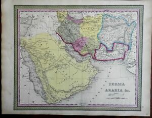 Middle East Arabia Persia Iran Afghanistan Baluchistan c. 1846-9 Mitchell map