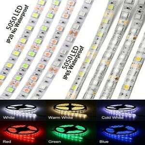 DC12V 1M/2M/5M SMD 5050 300 LED Flexible Tape Strip Light Waterproof Lamp Strip
