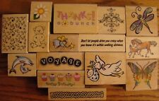 Rubber Stamp LOT of 15 ~ ALL BRAND NEW! Low Shipping