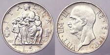 5 LIRE 1937 VITTORIO EMANUELE III REGNO D'ITALIA ITALY ARGENTO SILVER BB VF#6280