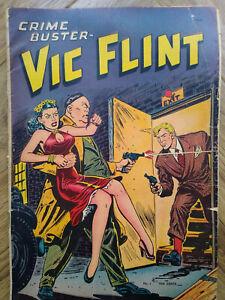 VIC FLINT Crime Buster No.1 1948.St. John Comics USA.