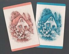 Playing  SWAP Cards 2 VINT U.K. COTTAGE & GARDEN OF MY DREAMS SO PRETTY 523
