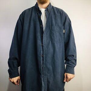 Vintage Woolrich Heavyweight Cotton Flannel Shirt 2XL TALL Blue