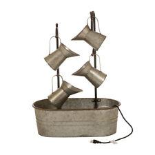 "Glitzhome 33.25""H Farmhouse Metal Rustic Pitchers Water Fountain Garden Decor"