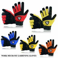 Safety Work Gloves Hand Protection Heavy Duty Mechanic Gardening Builders Cut