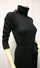 """$288 BCBG BLACK """"IDD65146"""" WOOL T-NECK TIE SWEATER DRESS NWT XXS"""