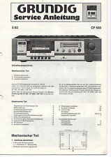 Grundig Service Instructions Manual CF 500 b340