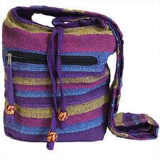 NEPAL SLING SHOULDER BAG cross body zip pocket multi colours FESTIVAL BOHO HIPPY