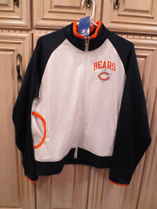 NFL Chicago Bears Women's Silky Feel Zippered Jacket with Decorative Studs (164)