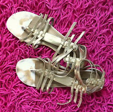 Well Worn Womens Sandals Used Size 9.5 Gold Shoes Preowned Bonniebel Loved Cute