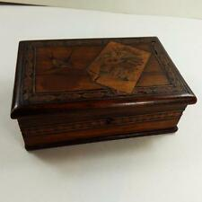 ANTIQUE SORRENTO WARE BOX LACQUER MICRO MOSAIC DECORATION early vintage