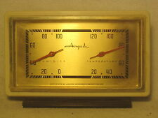 vintage Airguide Humidity Temperature instrument desk U.S.A.  retro gauge