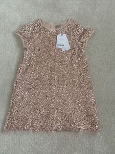 Next Age 5 Rose Gold Sequin Dress