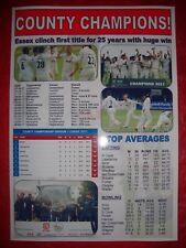 Essex CCC 2017 County Champions - souvenir print