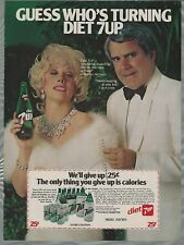 1982 DIET 7up advertisement, Seven Up, with Marilyn Michaels & Rich Little