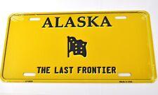 USA Alaska Last Frontier Nummernschild License Plate Deko Blechschild gelb