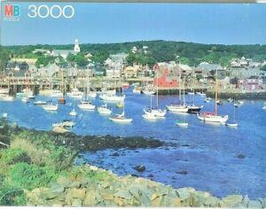 Rockport Harbor MA Milton Bradley Magnum 3000 Piece Vtg Puzzle - Boats, Sailing