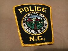 ASHEBORO NORTH CAROLINA  POLICE patch NB