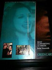 Green Card Bebe Neuwirth Rare Academy Awards Promo Poster Ad Framed!