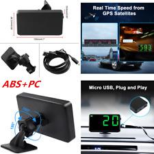 ABS+PC Digital Car 360° Adjustable GPS HUD Speedometer Speed Display KM/h MPH
