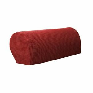 2Pcs Sofa Couch Stretch Armchair Covers Chair Furniture Arm Protectors Slipcover