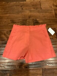 J.Crew Corail Rose Lin Mélange Ruche Short, Taille 00, Nwt