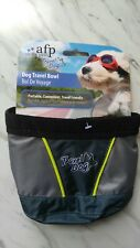 """Afp Travel Dog Bowl Foldable Portable Food Or Water Feeding Sports """" Outdoors"""