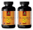natural pills - ST. JOHN'S WORT EXTRACT - antidepressant pills - 2 Bottles