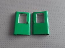 Lego - 2 x Green Train Doors with Train Glass - 67