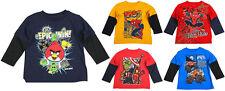 Licensed Novelty Toddler Boys Long Sleeve Various Character T-Shirt Tops