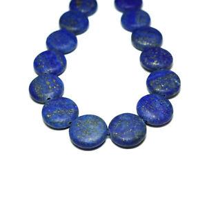 Lapislazuli Münze Perle matt blau 18 mm, 1 Strang #4128 BACATUS Edelstein