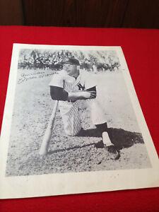 Vintage Mickey Mantle New York Yankees 8X10 B&W Photo with Facsimile Auto