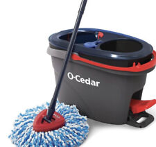 New 2 Tanks O-Cedar EasyWring RinseClean Microfiber Spin Mop & Bucket