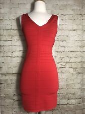 Arden B Red Club~Party Bodycon Cut~Out Back Dress Size S