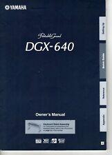 Yamaha DGX-640 Portable Grand Keyboard Original Owner's User's Manual Book