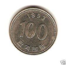 1993 SOUTH KOREA COIN 100 WON - UNC