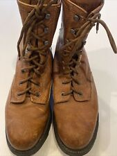 Wolverine Logger Style Leather Work Boots w/ Slip Resistant Sole Mens Size 11.5